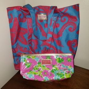 Lilly Pulitzer for Estee Lauder Makeup /Tote Bags